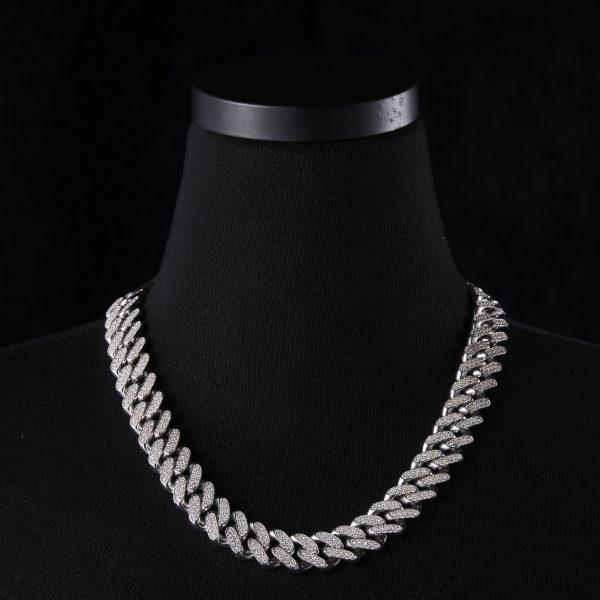 Cuban Chain DIA Necklace 10K WG